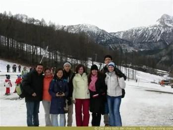 El grupo que íbamos para festejar a Katherine :)