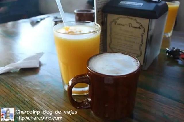 Cafe y jugo