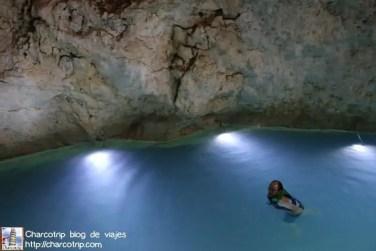Vicente nadando