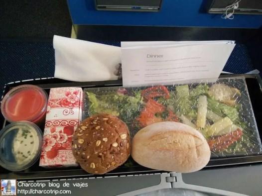 Cena en el avion