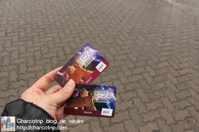 Los boletos de entrada