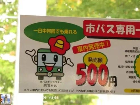 Como siempre... no podía faltar algo kawaii en este caso se trataba de la mascota de los camiones de Kioto