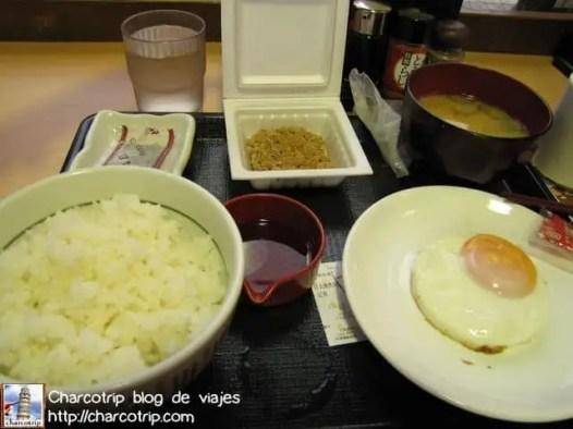 Desayuno japones con Natto Beans