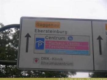 Los primeros letreros que vi en aleman