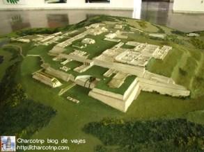 Maqueta del sitio arqueologico