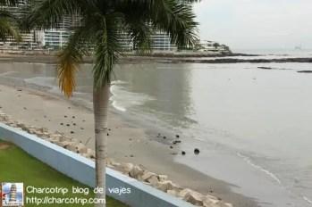 Playa desierta y prohibida