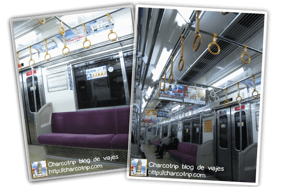 Esta vez el metro iba vacío, así que aproveche para tomar fotos :)
