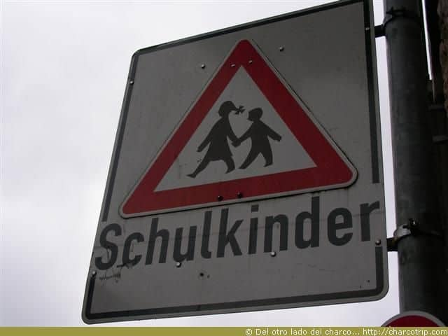 Un letrero en aleman!