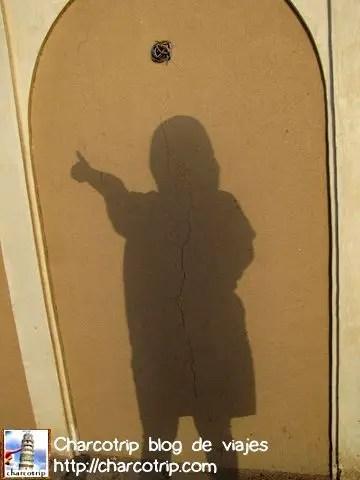 Jugando con mi propia sombra hehe