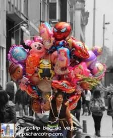 Vendedora de globos
