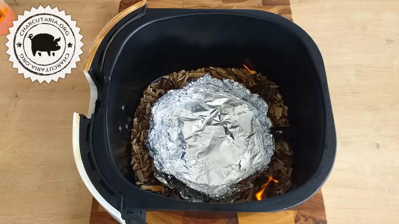 air fryer defumar lascas alumínio fogo