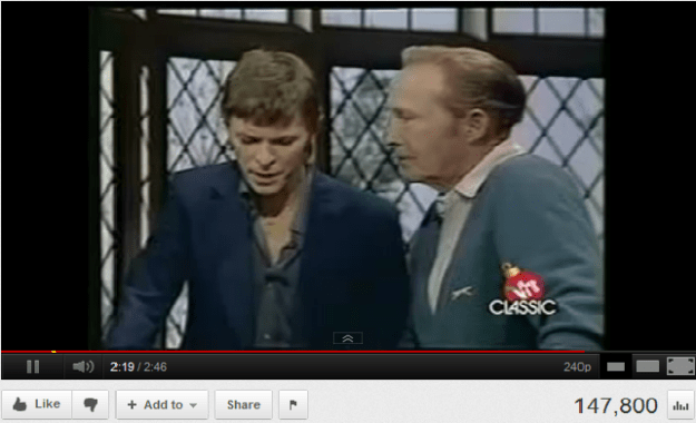 YouTube Video: Bowie and Cosby sing Peace on Earth / Little Drummer Boy