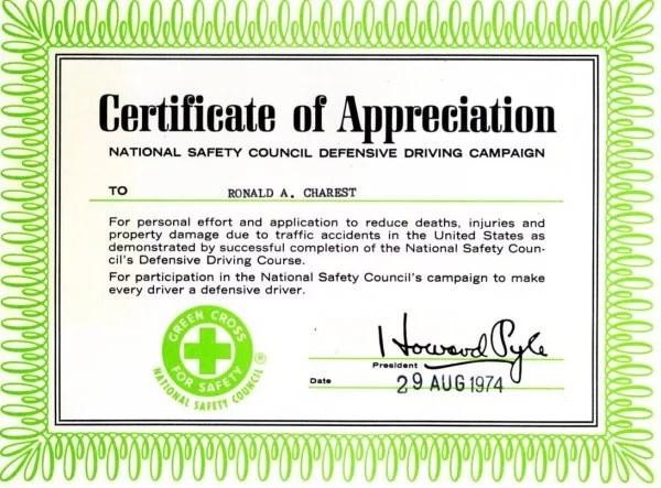 Driver Ed Certificate