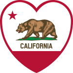 California Flag Heart