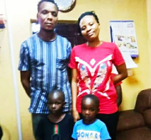 A couple, arrested for buying 2 children for an amount of N140,000