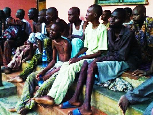 A detention camp discovered in Ibadan were it's victims are always tortured