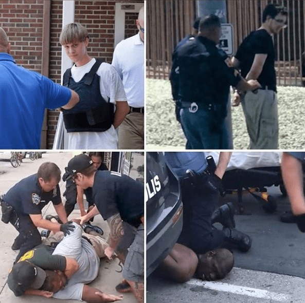 How police arrest White mass murderers (vs) How they arrest unarmed Black men – Snoop Dogg
