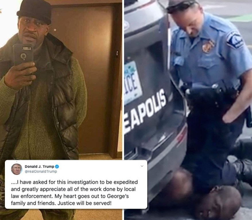 #GeorgeFloyd: Black man, George Floyd, dies after a Minneapolis police officer knelt on his neck – Donald Trump reacts.