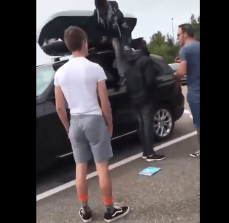 """WTH!: """"Family arrives back in the UK from holiday in Europe and discovers two Africans hiding in their car roof rack"""" (video)"""