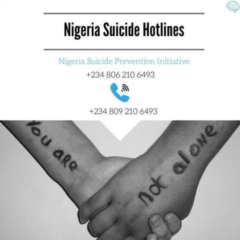 """WHAAAT?: """"At least 264 Nigerians have committed suicide in the last 4 years"""" – IASP"""