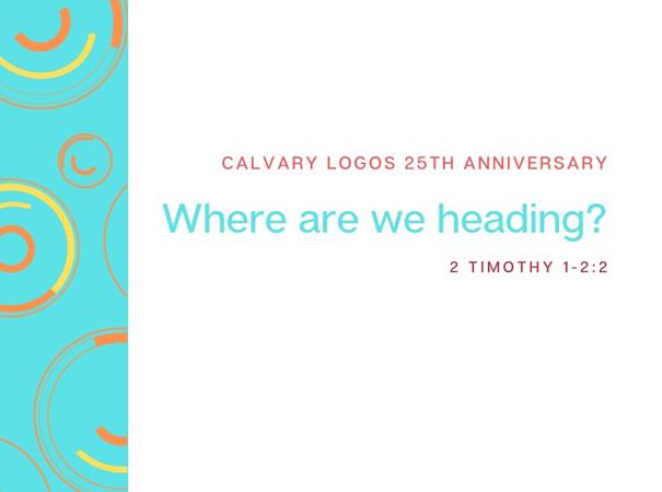 Where are We Heading? – Rev. Christina Ng