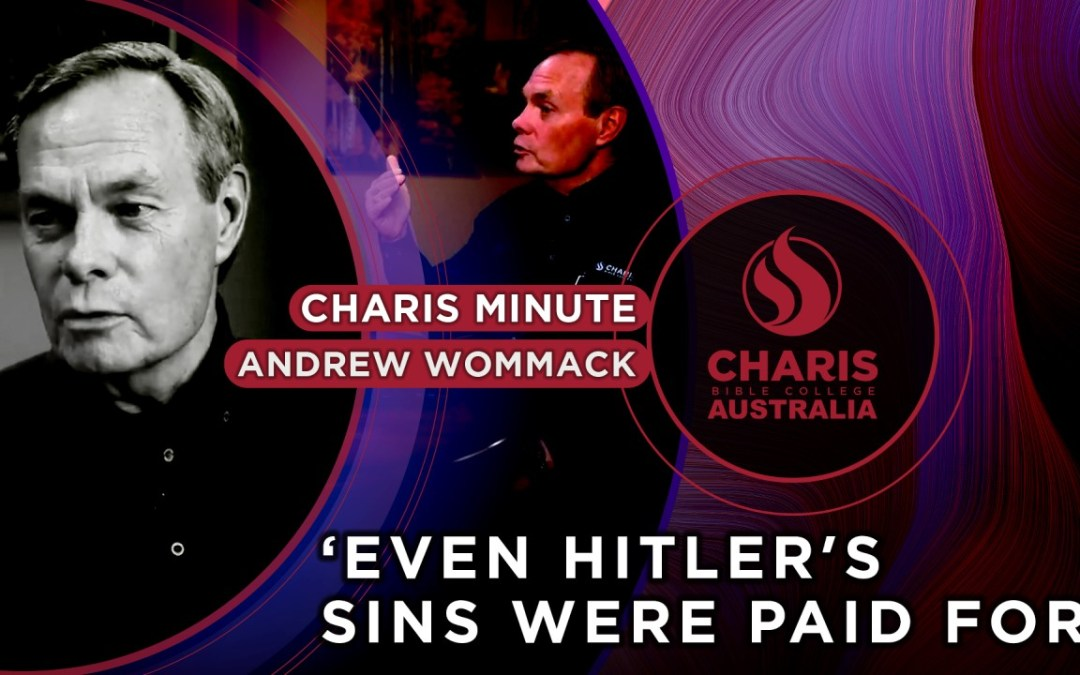 Even Hitler's Sins Were Paid For
