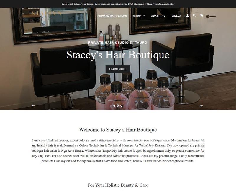 Charisma Digital Marketing Portfolio Stacey's Hair Boutique