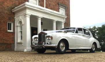 1964 Rolls Royce at a wedding - very popular wedding car - white Rolls-Royce