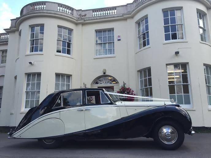 Our 1952 Bentley ready for the wedding - a lovely car for a wedding
