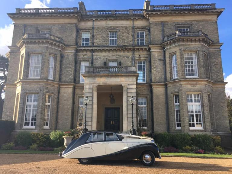 Our 1952 Bentley waiting for the happy couple - a magnificent wedding car