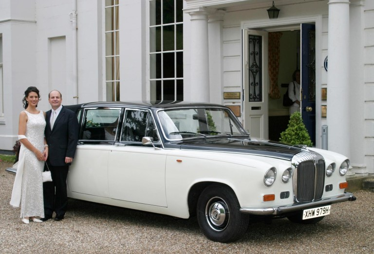 Daimler State Landaulette - good enough for the Queen and this happy couple