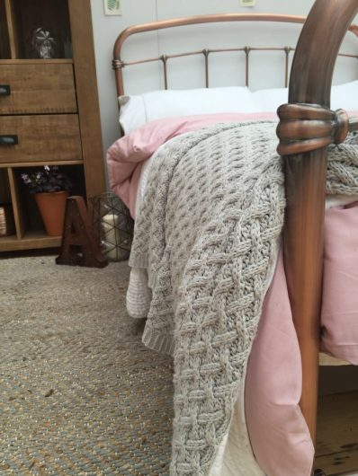 Copper coloured metal double bed frame, £375, Next.co.uk
