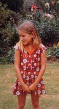 Vanessa Hogge in her grandmother's garden, South Africa, 1972