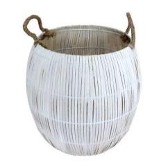 Bamboo storage basket, Dunelm Mill - Global Fusion interiors: Charis White blog