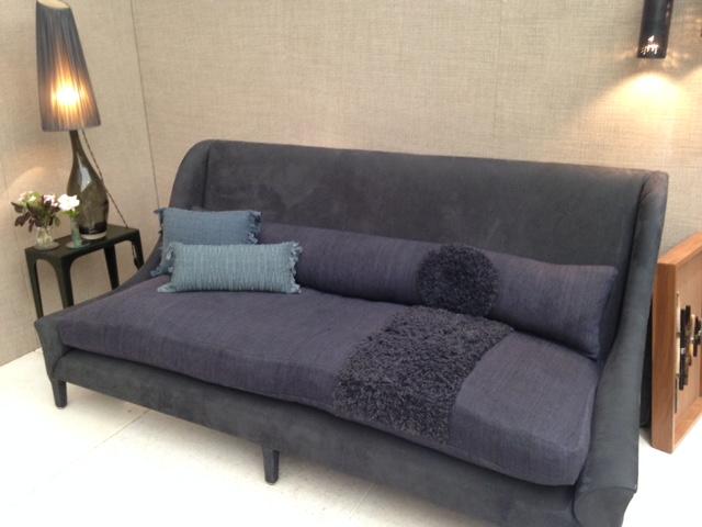 Indigo sofa by Ochre at Decorex 2016