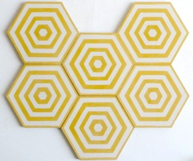 Tiles, Popham Design.com: Charis White interiors/fashion Yellow trends SS17 blog