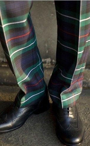 Men's Tartan trousers/Pinterest