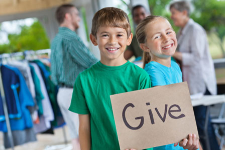 charitable kids that give