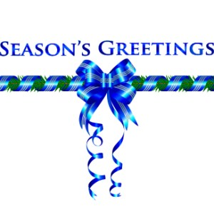 christmas-greeting-card-blue-ribbon-greeting-by-house.jpg