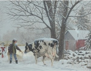 christmas-greeting-card-feeding-the-cow-with-snowman-by-dr-laird.jpg