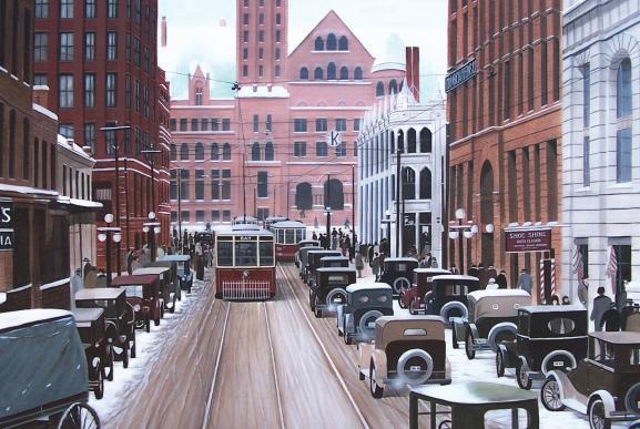 christmas-greeting-card-torontos-bay-street-1924-by-ken-kirsch