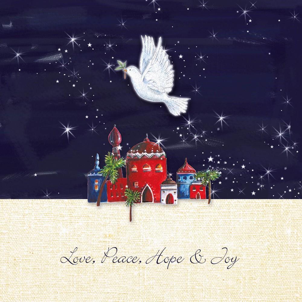 Festive Dove Christmas Card Charity Cards
