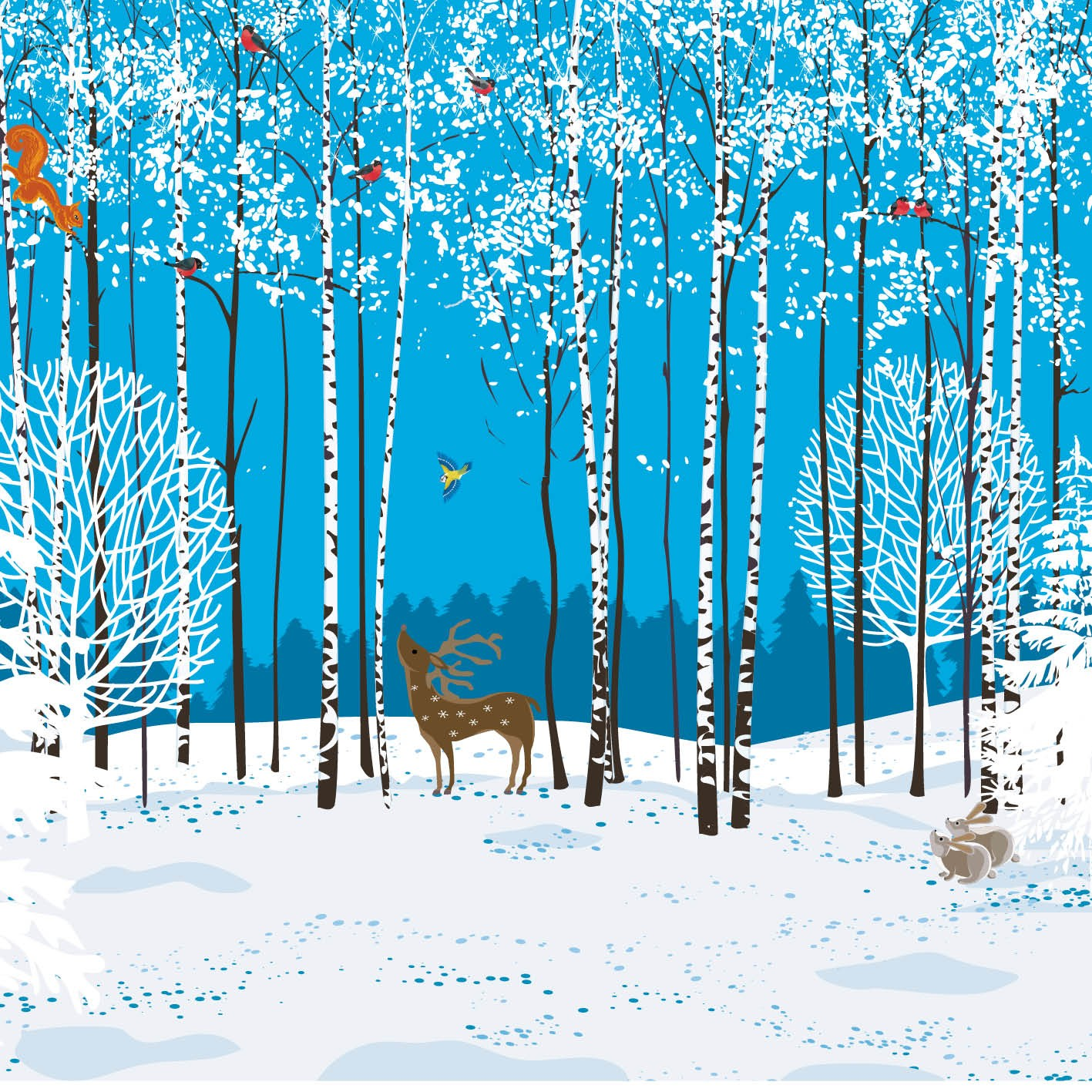 Woodland Creatures Christmas Card Charity Cards