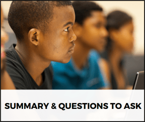 Summary & Questions to Ask