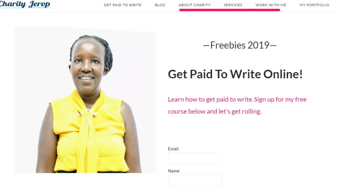 Find writing Jobs through your website
