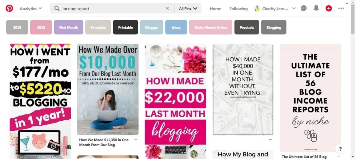 Find writing jobs through Pinterest.