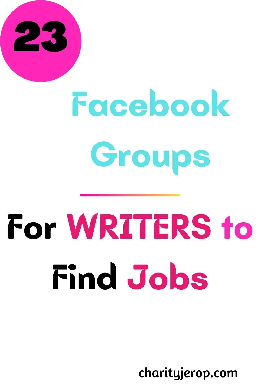 Freelance writing jobs on Facebook