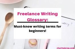 Freelance Writing Glossary