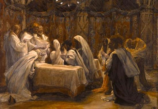 """Communion of the Apostles"" ~ James Tissot"