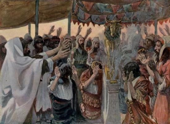 """The Golden Calf, as in Exodus"" ~ James Tissot"